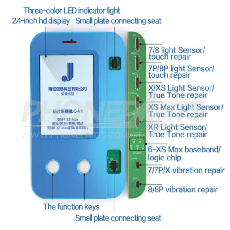 JC V1 IPHONE Multi PROGRAMMER from 7 to XS MAX | Phoneparts